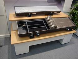 Установка встроенных в пол конвекторов Kampmann и системы управления ими
